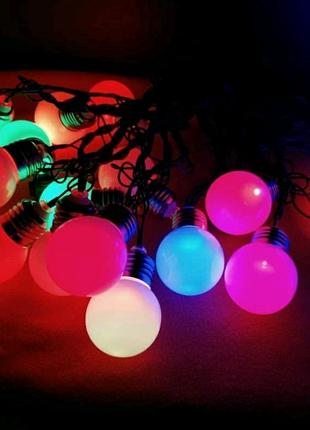"""Новогодние гирлянды """"Лампочки"""" 20 LED"""