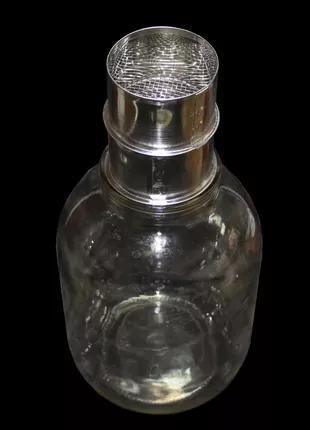 Фильтр для мёда на стеклянную банку, нержавеющий D-70 мм