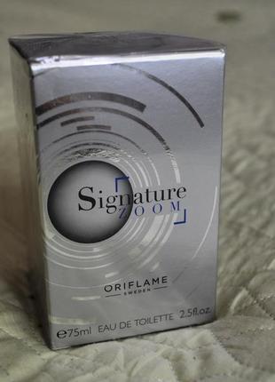 Мужская туалетная вода oriflame signature zoom