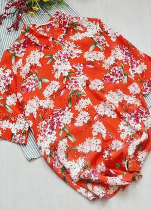 Очень красивая рубашка свободного кроя в цветы oui