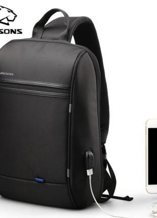 Городской рюкзак-слинг Kingsons для ноутбука через плече.