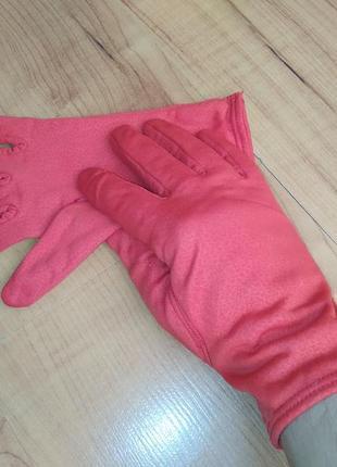 Перчатки карнавальные красные