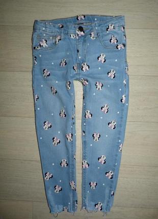 Прикольные джинсы disney at primark 5-6 лет
