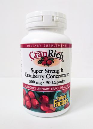 Концентрат клюквы Natural Factors CranRich, 500 мг, 90 капсул
