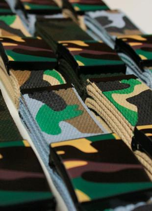 Тактический  ремень камуфляжный пояс для штанов