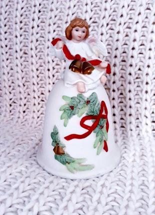 рождественский колокольчик фарфор