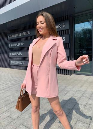 Костюм пиджак и шорти