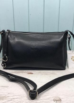 Женская кожаная итальянская сумка vera pelle жіноча шкіряна