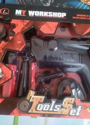 Игровой набор инструментов, дрель игрушечная