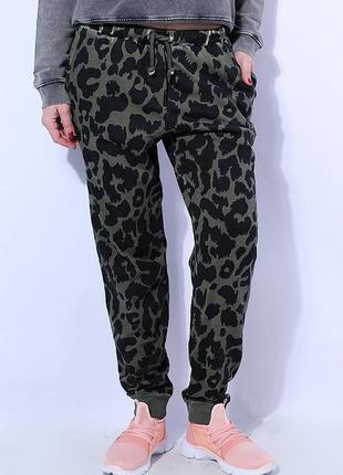 ✅крутые штаны брюки принт леопард разные цвета2 боковых кармашка