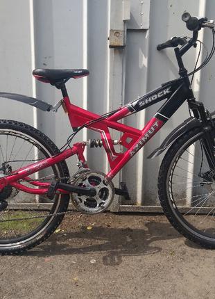 Велосипед Azimut Shock двухподвес на 26 колесах