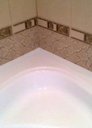 Герметизация стыков ванны и душевой кабины со стеной