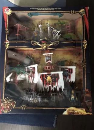 Игрушка Пираты,Пиратский корабль,Набор Пиратов