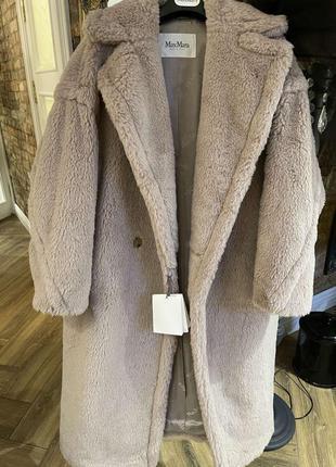 Пальто- шуба teddy max mara