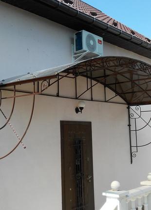 Кованые сварные изделия, решетки, заборы, ограды, двери, навес...