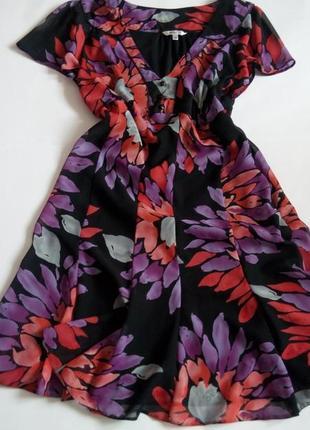 Платье мини 48   размер бюстье принт скидка распродажа нарядное