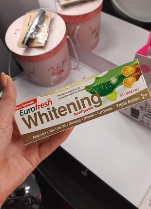 Зубная паста отбеливающая с мисваком farmasi
