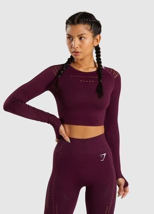 Оригинал кроп топ реглан flawless knit gymshark
