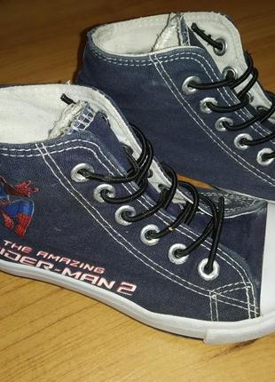 Кеды детские спайдермен человек паук