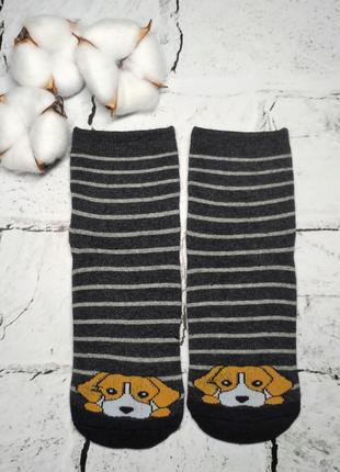 Детские носки, термо махровые, с рисунком Собачка