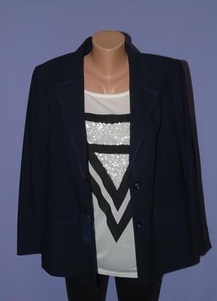 Темно синий пиджак/новый с биркой 18 размера marks & spencer