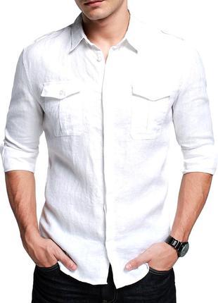 Мужская белая рубашка river island