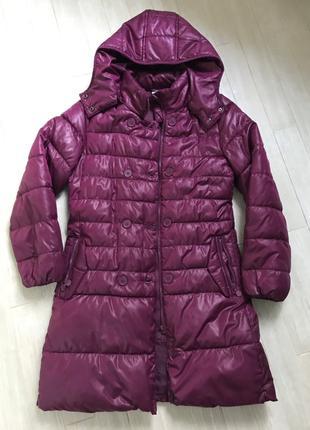 Coccodrillo пуховик зимняя длинная куртка на девушку подростка