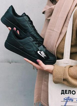Шикарные женские черные кроссовки nike air force 1 low black 😍