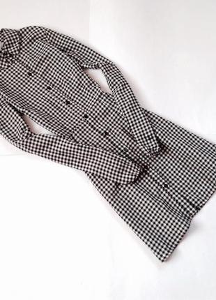 Платье рубашка в клетку h&m