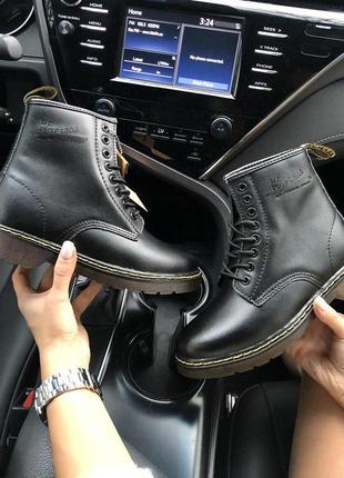 Шикарные женские зимние кожаные ботинки/ сапоги dr. martens bl...
