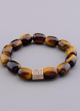 Браслет 'sunstones' тигровый глаз 19 см 0837010