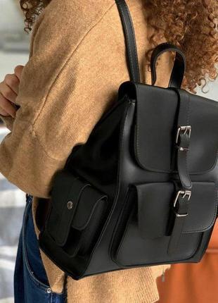 Рюкзак женский городской с накладными карманами