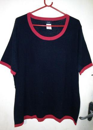 Тёплая,тонкой трикотажной вязки-типа джерси- блуза,большого 50...