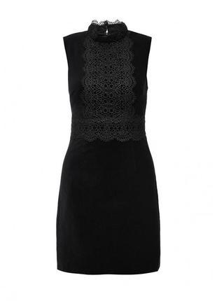 🌺👗🌺очень красивое женское черное платье с кружевом warehouse🔥🔥🔥
