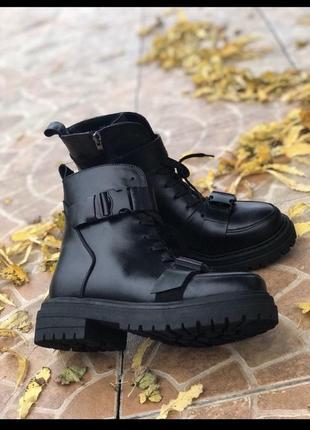 Хит 2020🖤♥️ женские зимние кожаные ботинки
