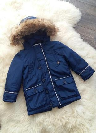 Зимняя куртка/парка mayoral (испания) на 2 годика (размер 92)