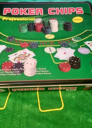 Набор для игры в покер на 500 фишек с номиналом | новый покерн...