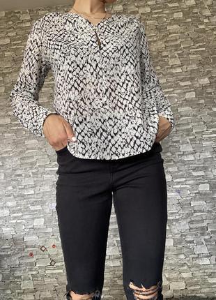 Легкая блуза tom tailor denim змеиный принт
