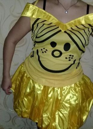 Карнавальный костюм солнце смайлик на взрослого
