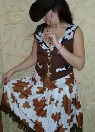 Карнавальный костюм ковбойша взрослая.