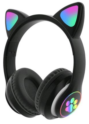Оригинальные беспроводные Bluetooth стерео наушники с кошачьими L
