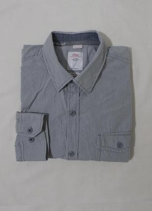 Рубашка серая в мелкую полоску 's.oliver' 52-56р