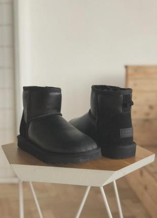 Женские зимние тёплые сапоги ботинки ugg mini leather