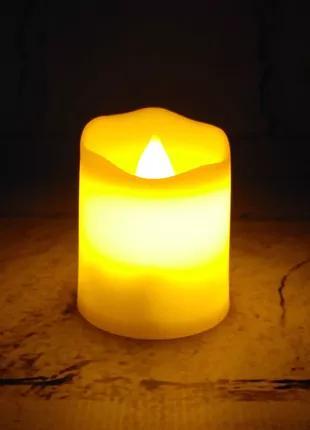 LED свеча электронная, желтая, 4,3х3,7 см