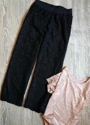Нарядные кружевные брюки размер 14, можно 12. не просвечивают
