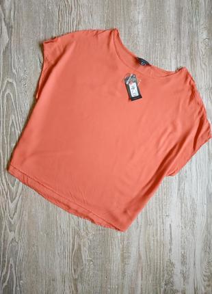 Натуральная блузка лососевого цвета primark размер 18