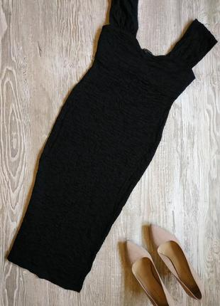 Стрейчевое платье миди по фигуре river island размер 12