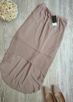 Нюдовая юбка с шлейфом dorothy perkins размер 14
