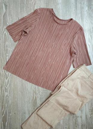 Пудровая блузка плиссе atmosphere размер 16