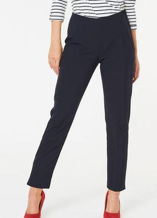 Темно синие зауженные брюки bonmarche размер 12